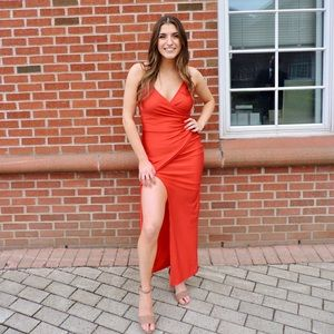Long Red Formal Dress / Evening Gown